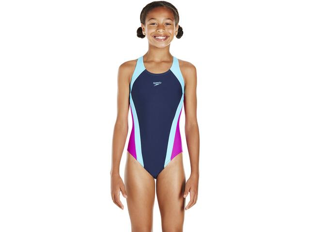 Costumi Da Bagno Per Bambino : Speedo contrast panel splashback costume da bagno bambino blu